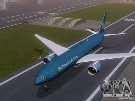 Boeing 777-2Q8ER Vietnam Airlines para GTA San Andreas vista interior