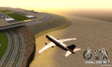 Airbus A319 British Airways Olympic Dove para GTA San Andreas vista direita