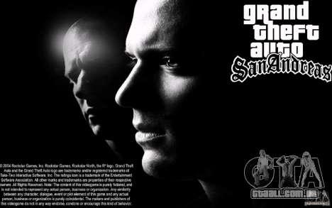 Tela de boot Escape para GTA San Andreas