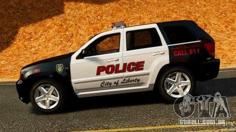 Jeep Grand Cherokee SRT8 2008 Police [ELS] para GTA 4 esquerda vista
