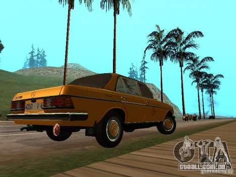 Mercedes-Benz 240D Taxi para GTA San Andreas traseira esquerda vista