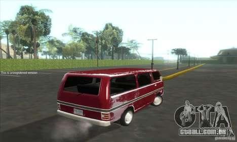 Nissan Caravan E20 para GTA San Andreas traseira esquerda vista