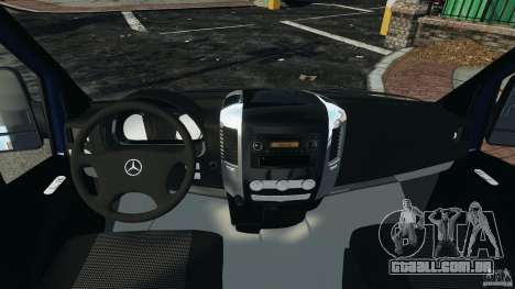 Mercedes-Benz Sprinter G4S ES Cash Transporter para GTA 4 vista de volta