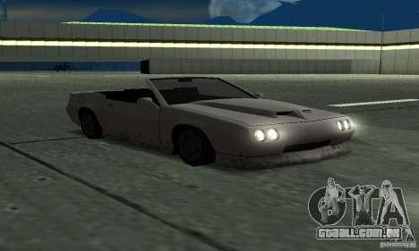 Buffalo Cabrio para GTA San Andreas vista direita