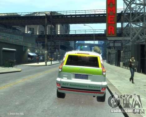 Toyota Land Cruiser Prado Police para GTA 4 traseira esquerda vista