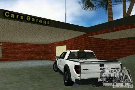 Ford F-150 SVT Raptor para GTA Vice City vista direita