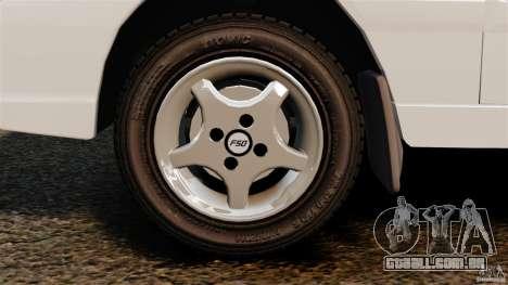 Daewoo-FSO Polonez Caro Plus 1.6 GSI 1998 Final para GTA 4 vista de volta