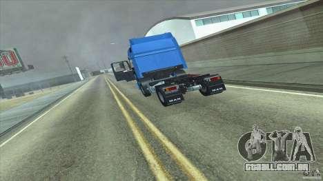 Man F2000 para GTA San Andreas traseira esquerda vista