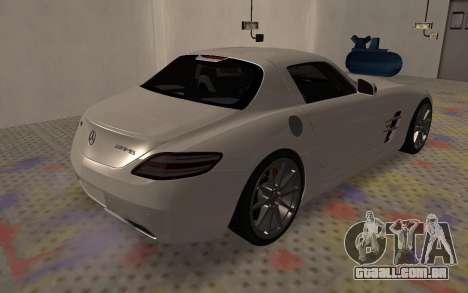 Mercedes-Benz SLS AMG 2010 para GTA San Andreas vista traseira