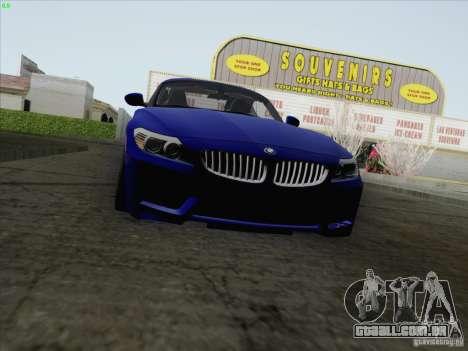 BMW Z4 2011 para GTA San Andreas traseira esquerda vista