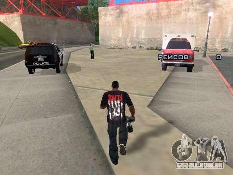 Repórter para GTA San Andreas segunda tela