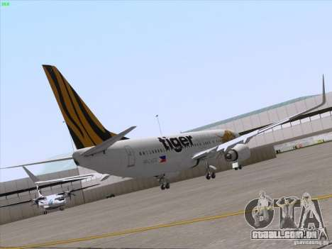 Boeing 737-800 Tiger Airways para GTA San Andreas vista direita