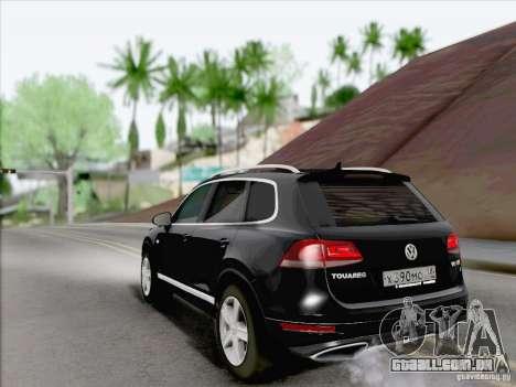 Volkswagen Touareg 2012 para GTA San Andreas vista direita