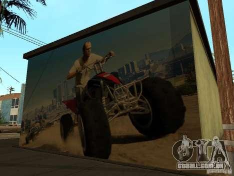 Cartaz de GTA 5 para GTA San Andreas por diante tela