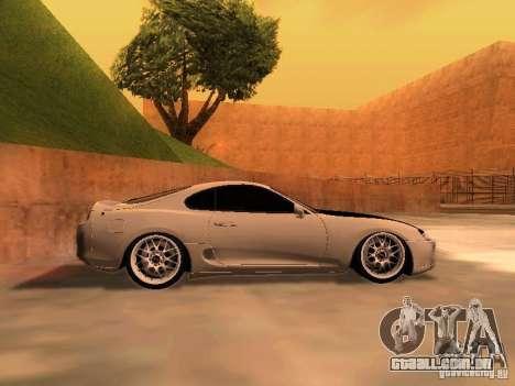 Toyota Supra GTS para GTA San Andreas esquerda vista