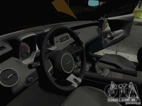Chevrolet Camaro SS 2012 para GTA San Andreas vista traseira