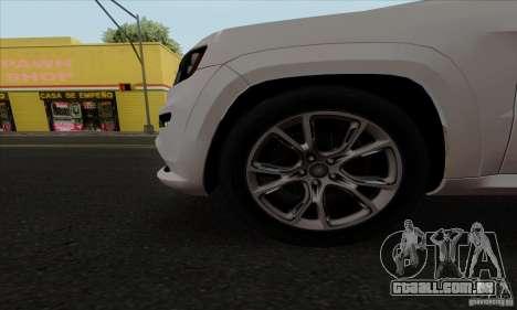 Jeep Grand Cherokee SRT-8 2013 para GTA San Andreas vista traseira
