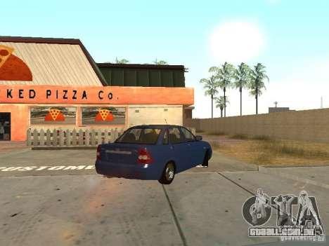 LADA 2170 dreno para GTA San Andreas esquerda vista