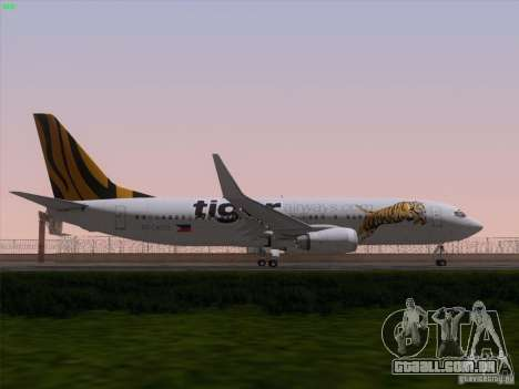 Boeing 737-800 Tiger Airways para o motor de GTA San Andreas