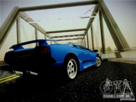 Lamborghini Diablo VT 1994 para GTA San Andreas traseira esquerda vista