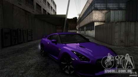 Nissan GT-R35 v1 para GTA San Andreas vista direita