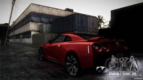 Nissan GT-R35 v1 para vista lateral GTA San Andreas