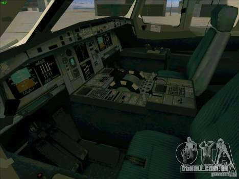 Airbus A380-800 para GTA San Andreas vista inferior