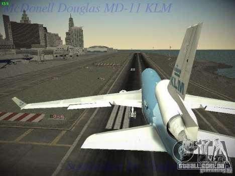 McDonnell Douglas MD-11 KLM Royal Dutch Airlines para GTA San Andreas vista direita