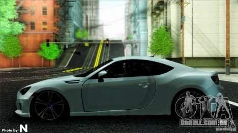 Subaru BRZ v2 para GTA San Andreas traseira esquerda vista