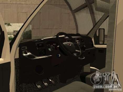 GAZ 2752 Sobol negócios para GTA San Andreas vista traseira