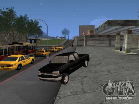 Chevorlet Silverado 2000 para GTA San Andreas traseira esquerda vista