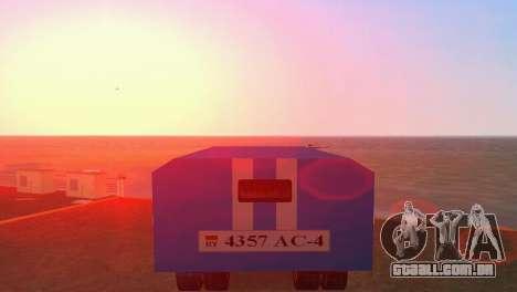 ZIL 130 para GTA Vice City vista traseira