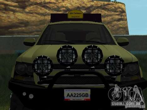 Chevrolet Tahoe Off Road para GTA San Andreas vista traseira