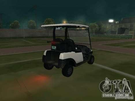 Transportador de GTA TBoGT para GTA San Andreas traseira esquerda vista