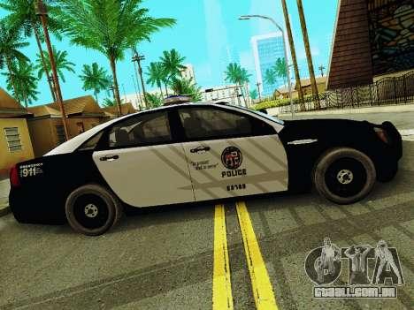 Chevrolet Caprice 2011 Police para GTA San Andreas esquerda vista