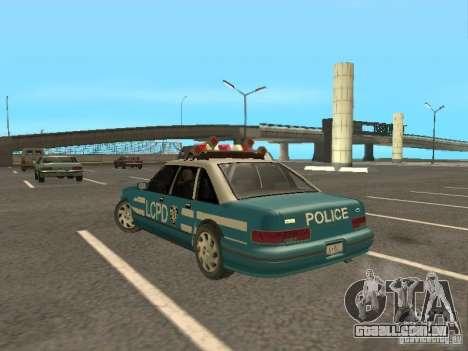 HD Police from GTA 3 para GTA San Andreas traseira esquerda vista
