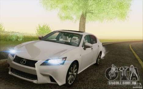 Lexus GS 350 F Sport Series IV para vista lateral GTA San Andreas