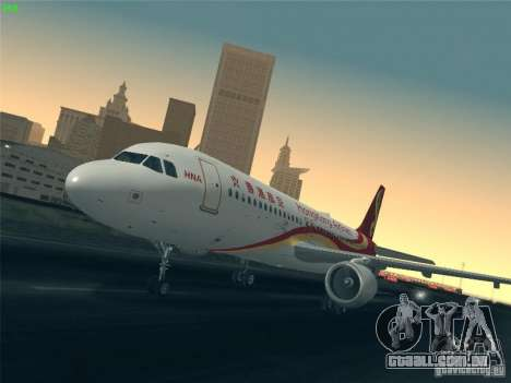Airbus A320-214 Hong Kong Airlines para GTA San Andreas vista inferior