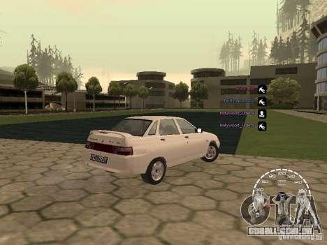 Velocímetro Lada Priora para GTA San Andreas segunda tela