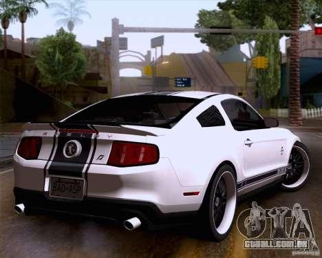 Ford Shelby GT500 Super Snake para GTA San Andreas esquerda vista