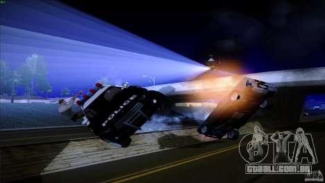 Polícia atira fora da máquina para GTA San Andreas por diante tela