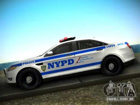 Ford Taurus NYPD 2011 para GTA San Andreas vista direita