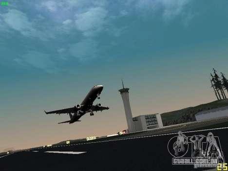 Embraer ERJ 190 USAirways para GTA San Andreas vista traseira