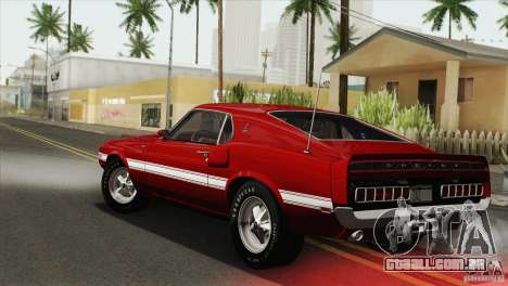 Shelby GT500 428 Cobra Jet 1969 para GTA San Andreas vista interior