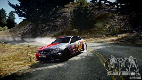 Mercedes Benz C63 AMG SAIBON Paint Job para GTA 4 esquerda vista