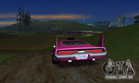 Dodge Charger Daytona SRT10 para GTA San Andreas vista traseira