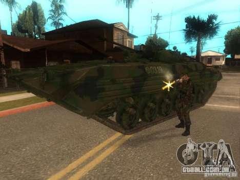 BMP-2 no COD MW2 para GTA San Andreas vista traseira