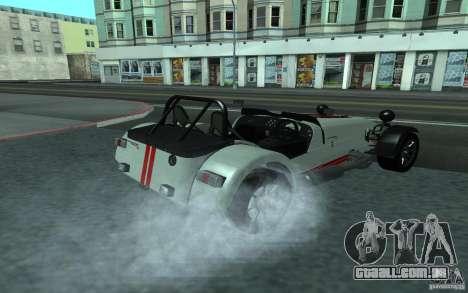 Caterham R500 para GTA San Andreas traseira esquerda vista