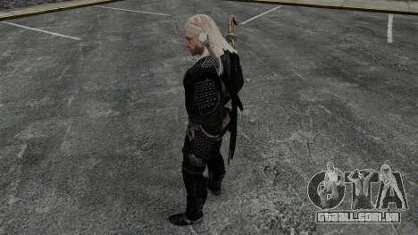 Geralt de Rivia v8 para GTA 4 por diante tela