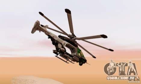 AH-2 Сrysis 50 C.E.L.L. helicóptero para GTA San Andreas traseira esquerda vista
